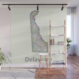 Delaware map Wall Mural