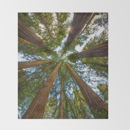 Redwood Forest Canopy Throw Blanket