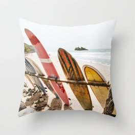 Surfing Day 2 Throw Pillow