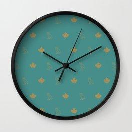 Maple Leafs - Rain Wall Clock