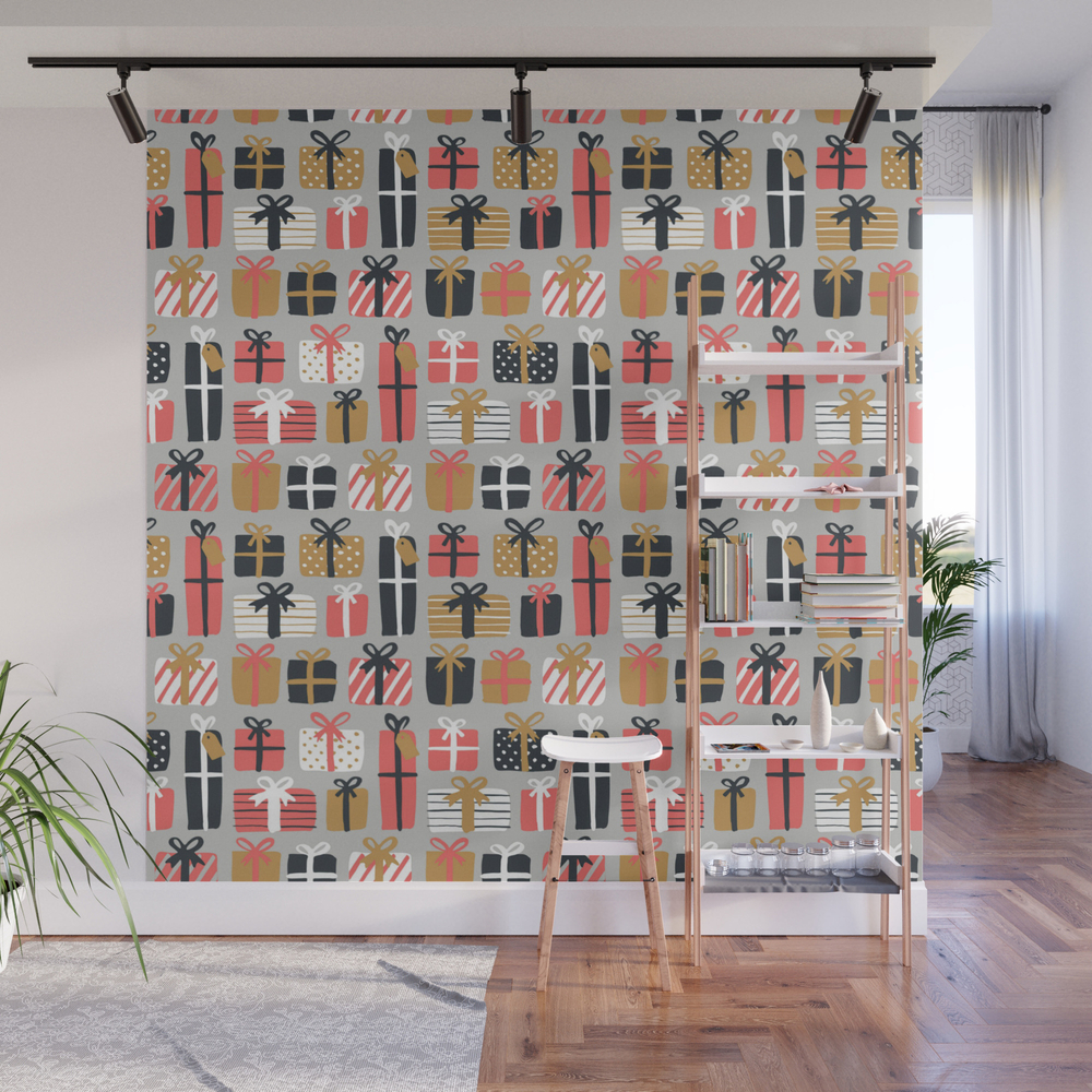 Christmas_Gifts_Pattern_Wall_Mural_by_kostaslio
