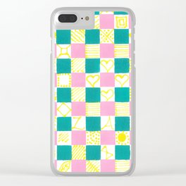 Check Mate by Australian Artist Vidy Potdar Clear iPhone Case