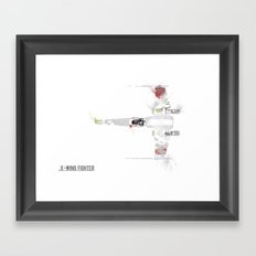 Star Wars Vehicle X-Wing Fighter Framed Art Print