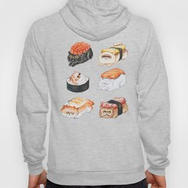 Sushi Persian Cat Watercolor Hoody
