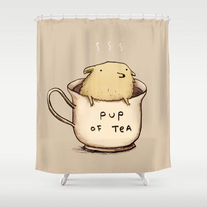 Pup of Tea Shower Curtain