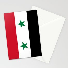 Syrian flag - may PEACE prevail Stationery Cards