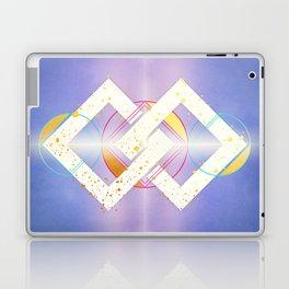 Linked Lilac Diamonds :: Floating Geometry Laptop & iPad Skin