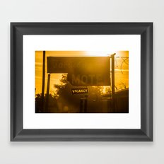 Fabulous Motel Framed Art Print