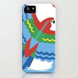 The Colourful Parrot iPhone Case