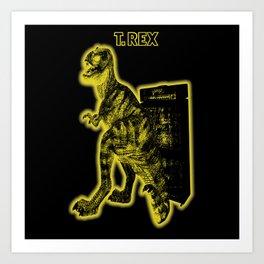 Electric Warriosaurus Art Print