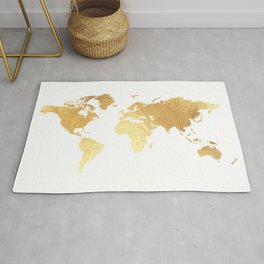 Textured Gold Map Rug