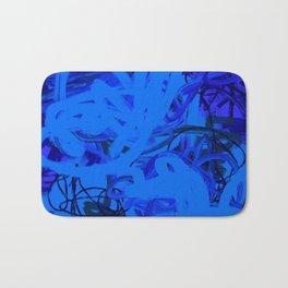 Blue & Navy Abstract Bath Mat