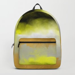 Golden Whispers - Abstract Art Acrylic Painting Backpack