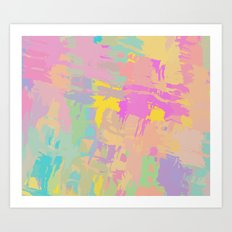 Pastel mix Art Print