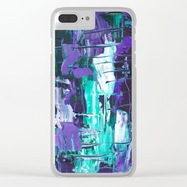 Violet Submerge Clear iPhone Case