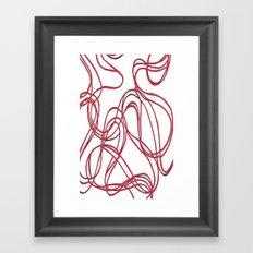 red tyre print Framed Art Print