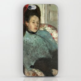 Portrait of Elena Carafa by Edgar Degas iPhone Skin