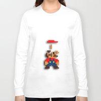 tetris Long Sleeve T-shirts featuring Mario Tetris by Darthdaloon