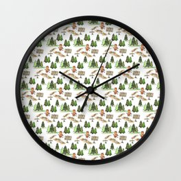 Jersey Devil Welcomes You to the Pine Barrens! Wall Clock