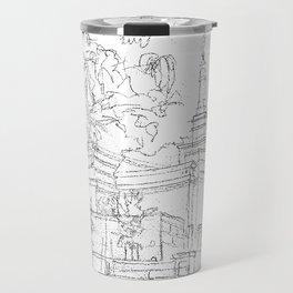 Melbourne AU LDS Temple Sketch Travel Mug