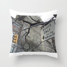 Lights and Signs Throw Pillow