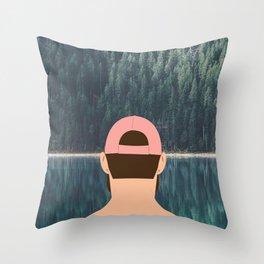 > line Throw Pillow