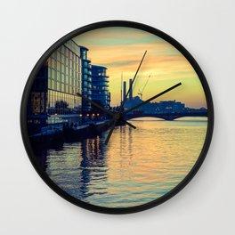 Sunset over Chelsea Bridge 02C (everyday 24.01.2017) Wall Clock