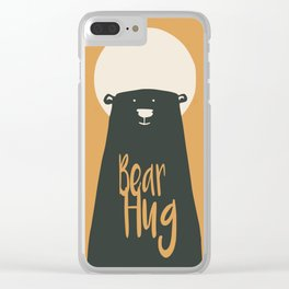 Big bear hug Clear iPhone Case