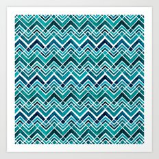 Arrowhead Chevrons Art Print