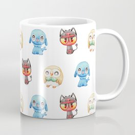 Rowlet, Litten and Popplio - Starters - Pocket Monsters Coffee Mug