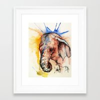 africa Framed Art Prints featuring Africa by Abigail Leigh