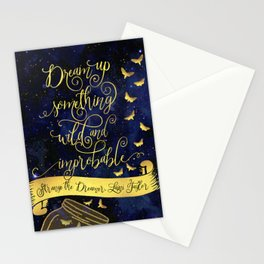 Dream up something wild and improbable. Strange the Dreamer. Stationery Cards
