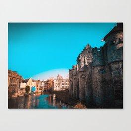 Ghent River View Canvas Print