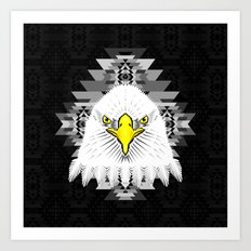 Geometric Eagle Art Print