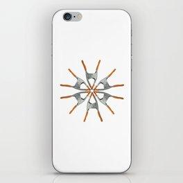 I Love Clamp iPhone Skin