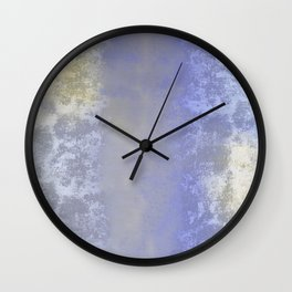 Salted earth abstract- mineral instruction Wall Clock