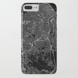 San Francisco Black Map iPhone Case