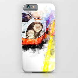 Le Mans Chase iPhone Case