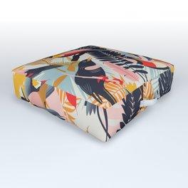 Paradise Birds II. Outdoor Floor Cushion