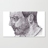 leon Canvas Prints featuring Leon by jamestomgray