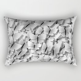 White Butterflies Rectangular Pillow