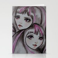sisters Stationery Cards featuring Sisters by kaliwallace