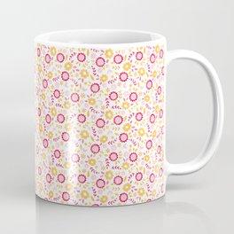 Autumn Floral - yellow, red, white Coffee Mug
