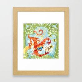 Monkey Games Framed Art Print