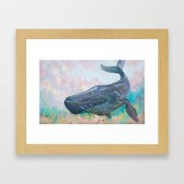 Cosmic Whale Framed Art Print