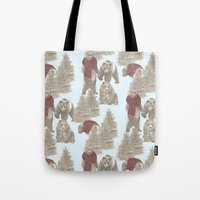 bears Tote Bags featuring Bears  by Ellie Price