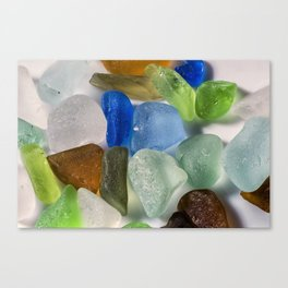 Colorful New England Beach Glass Canvas Print