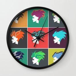 Punk girl pop art inspired Wall Clock