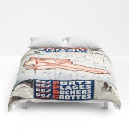 Vintage poster - Belle ile en Mer Comforters