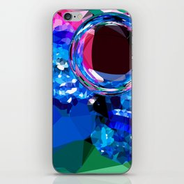 planet polygons iPhone Skin